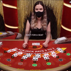 Online Blackjack table by Evolution Software