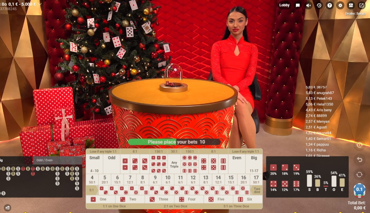Online Sic Bo Game by Pragmatic Play Live Casino