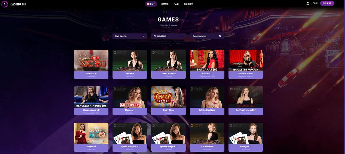 CasinoBit is the Best Live Bitcoin casino