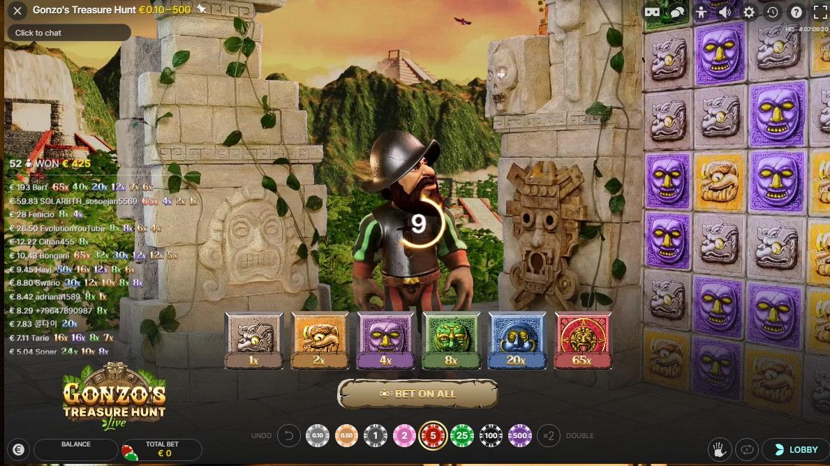 3D animations of Gonzo's Treasure Hunt