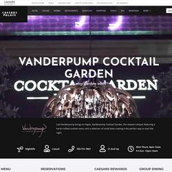 Vanderpump Cocktail Garden of Caesars Palace Casino